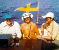 Ronald/OE3REB, Captain Olle/SM2BFL and Janne/SM2DYS